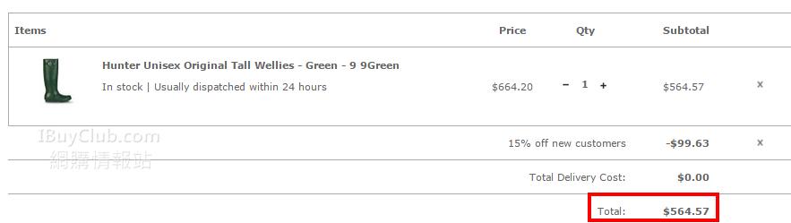 全場85折Code:英國網站買Hunter、Vivienne Westwood、Melissa