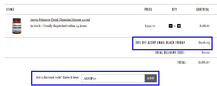 更抵!英國網站買Aesop全場限時7折