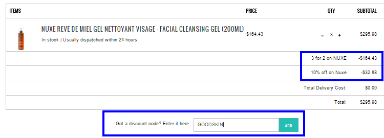 限時Beauty優惠:NUXE護膚品買2送1+額外9折code