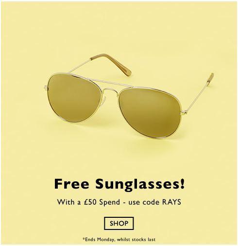 超筍優惠:Topman官網購物滿英鎊50即送眼鏡 !先買先得!