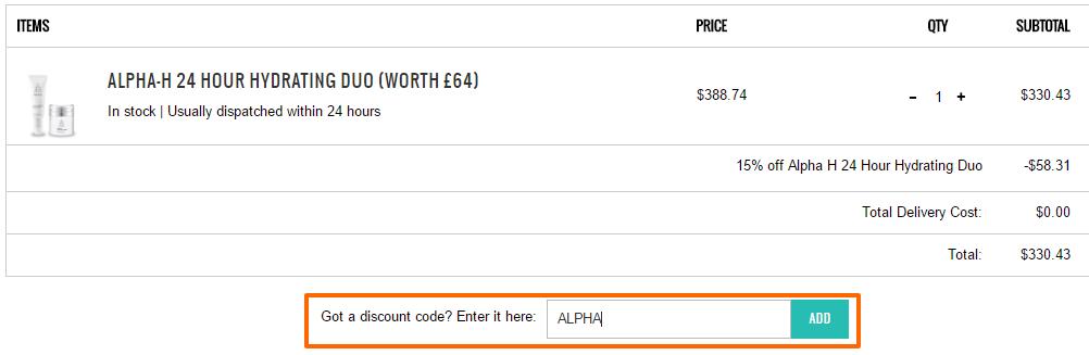 超抵買!澳洲Alpha H 早晚補水套裝 6 折,仲有額外85折!
