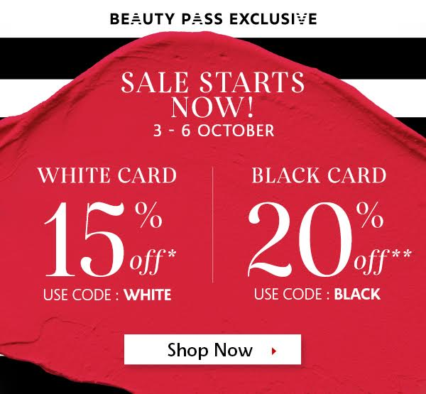 Sephora香港官網:限時Private Sale優惠,全場85折!