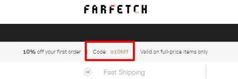 Farfetch限時9 折優惠碼+免運費寄香港澳門