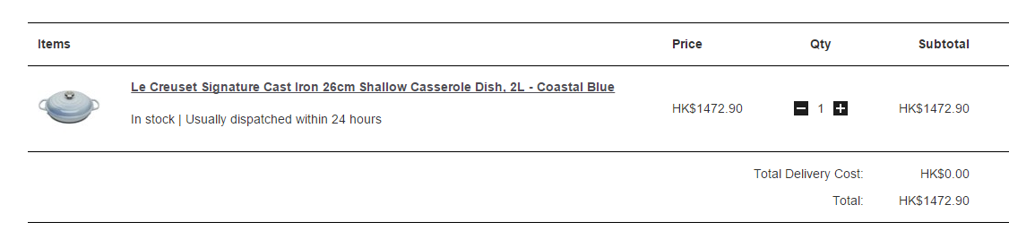 又有啦!英國網購Le Creuset 低至香港價錢36折!免運寄香港澳門!