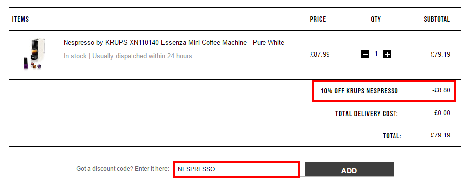 英國網購Nespresso咖啡機折完最平HK3(限時)!寄香港澳門!