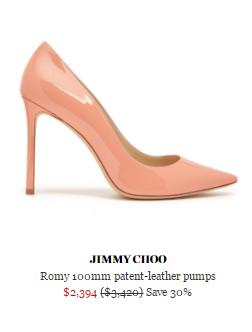 網購Jimmy Choo 鞋款低至香港價錢33折!寄香港澳門!