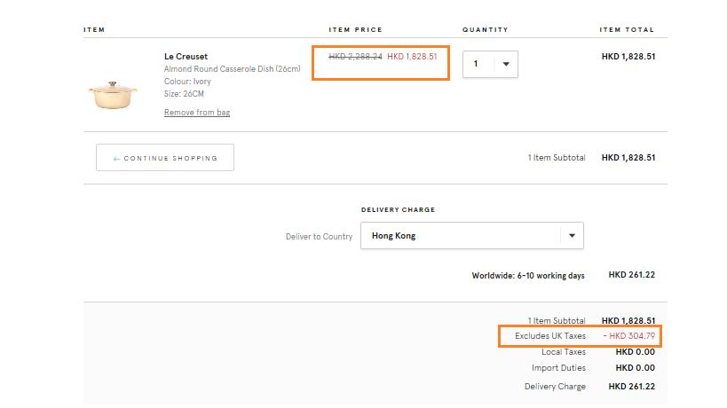 英國網購Le Creuset 低至香港價錢33折!寄香港澳門!