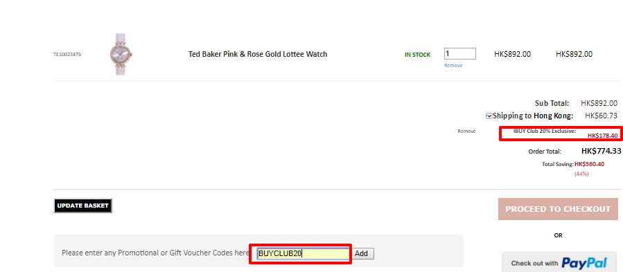Ted Baker, OB手錶全部8折優惠!平至HK0起!寄香港澳門