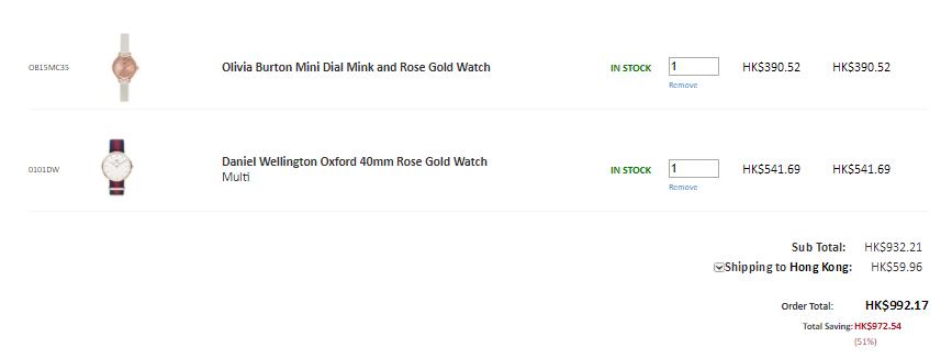 手錶震撼勁減!半價起包括DW, Ted Baker, OB等等!平至HK1有隻!