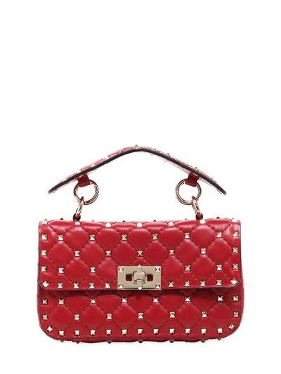 網購Valentino最新款Rockstud Spike 手袋有折啦!平最多HKhttp://www.ibuyclub.com/wp-content/uploads/2017/07/SMALL-SPIKE-LEATHER-SHOULDER-BAG-RED.jpg,990!