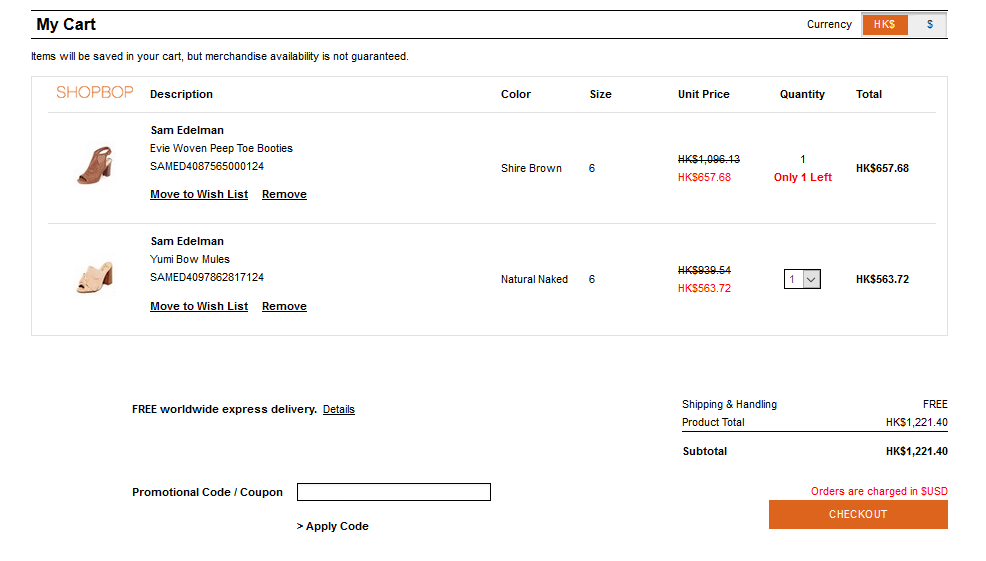 抵到震!美國Sam Edelman鞋低至35折超級大減價,最平HK4起有對!