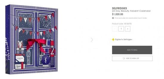 超正!英國Selfridges百貨限量版聖誕禮盒開賣啦!YSL, Kiehls同Lancome產品為主!