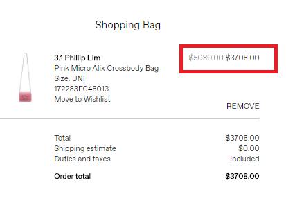 網購 3.1 Phillip Lim 低至56折優惠,袋款低至HKpng,101,超多減價款式