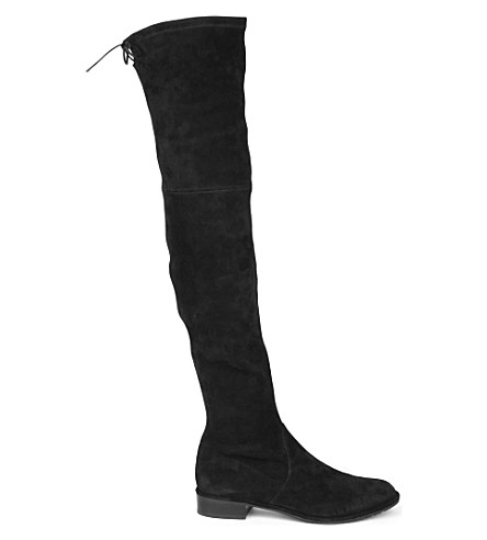 Lowland suede thigh boots Feb2