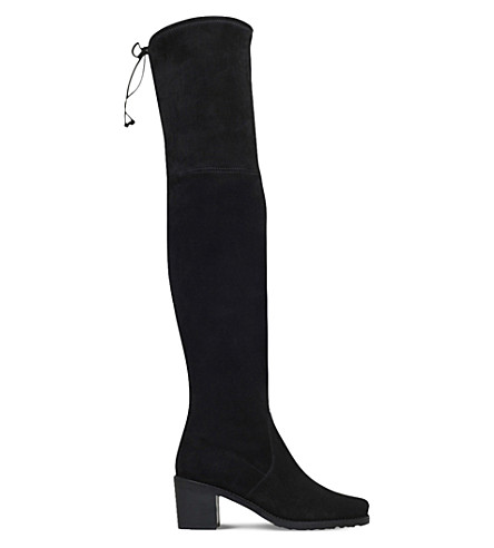 Urban suede over-the-knee boots Feb2