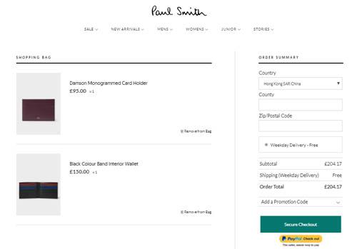 買禮物啦,英國Paul Smith網購低至香港價錢61折+免運費,必睇多款免費刻字銀包卡套